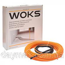 Электрический теплый пол, нагревательный кабель Woks-18 100W (6м)