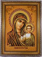 Ікона з янтаря Казанська і-05 Божої Матері 15*20