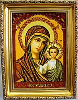 Ікона з янтаря i-07 Казанська 15*20