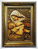 Ікона з янтаря Годує і-100 Божої Матері Годувальниця 20*30