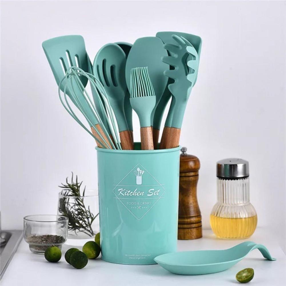 Набор кухонных предметов Kitchen Dining 12 предметов (0350) Силикон
