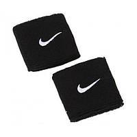 Напульсники Nike Swoosh Black Wristbands черные