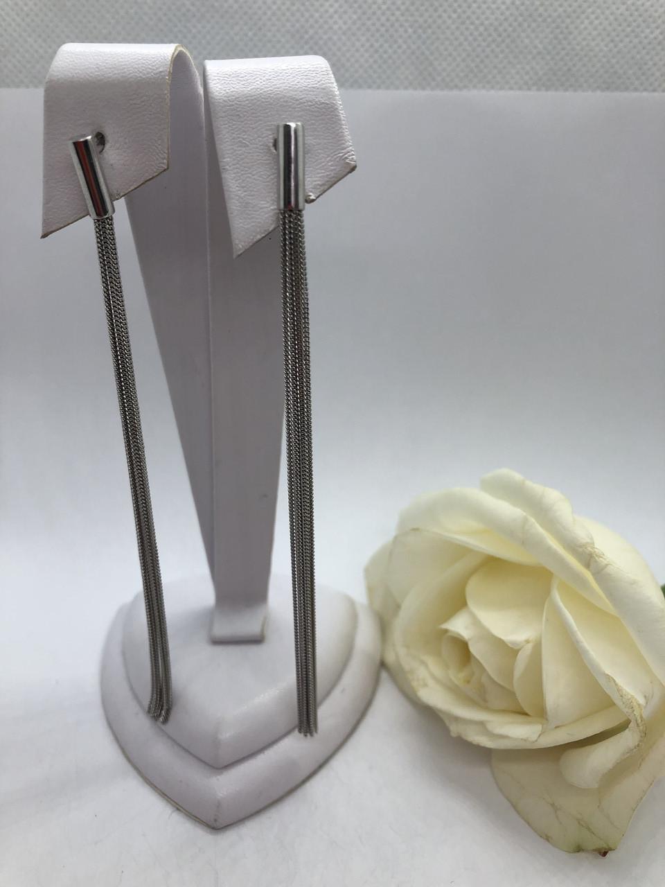 Серебрянные серьги Нить от Ирида-В