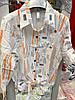Красивая женская рубашка с мелкими надписями 42-48 (в расцветках), фото 2