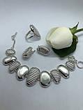 Комплект серебряных украшений Трек от Ирида-В, фото 2