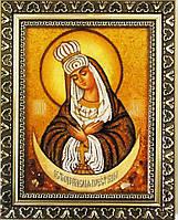Ікона з янтаря Почаївська і-74 Божої Матері 15*20