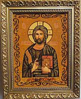 Ікона з янтаря Ісус Христос і-22 Господь Вседержитель 20*30