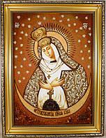Ікона з янтаря Остробрамська і-151 Божої Матері 30*40