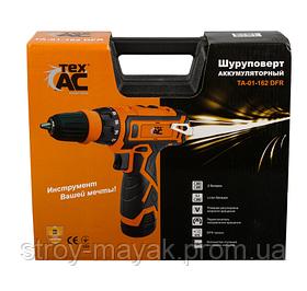 Шуруповерт аккумуляторный Tex.AC DFR (12V) хорошего качества 2 скорости 2 аккумуляторы