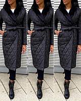 Куртка женская зимняя длинная Цвет : бежевый, мокко, синий