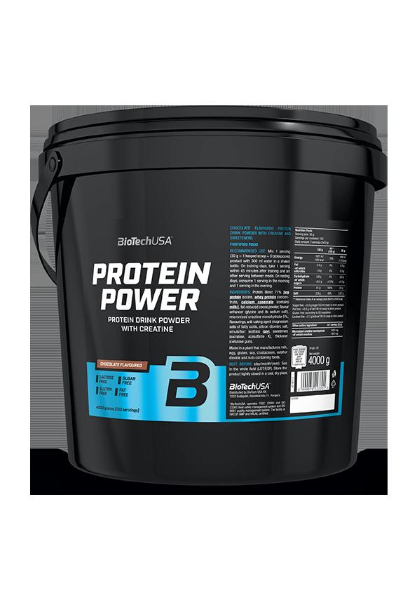 Комплексный протеин BioTech Protein Power (4000 г) биотеч павер клубника банан