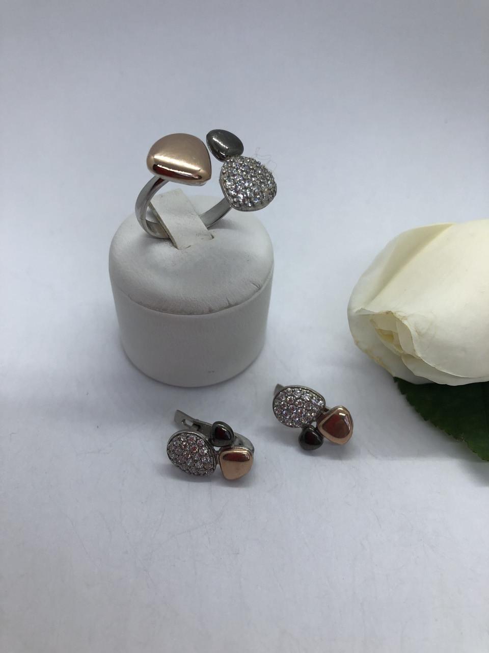 Комплект серебряных украшений Шёлк от Ирида-В