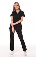 Медицинский костюм Манила чёрный, фото 1
