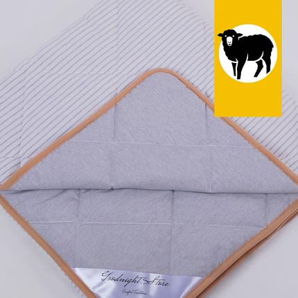 Одеяло с шерсти Мериноса облегченное Lite Goodnight.Store 100х140 см (цвет серый / белый в полоску), фото 2