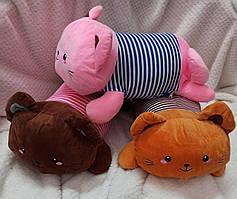 Детская мягкая игрушка с пледом Котики.