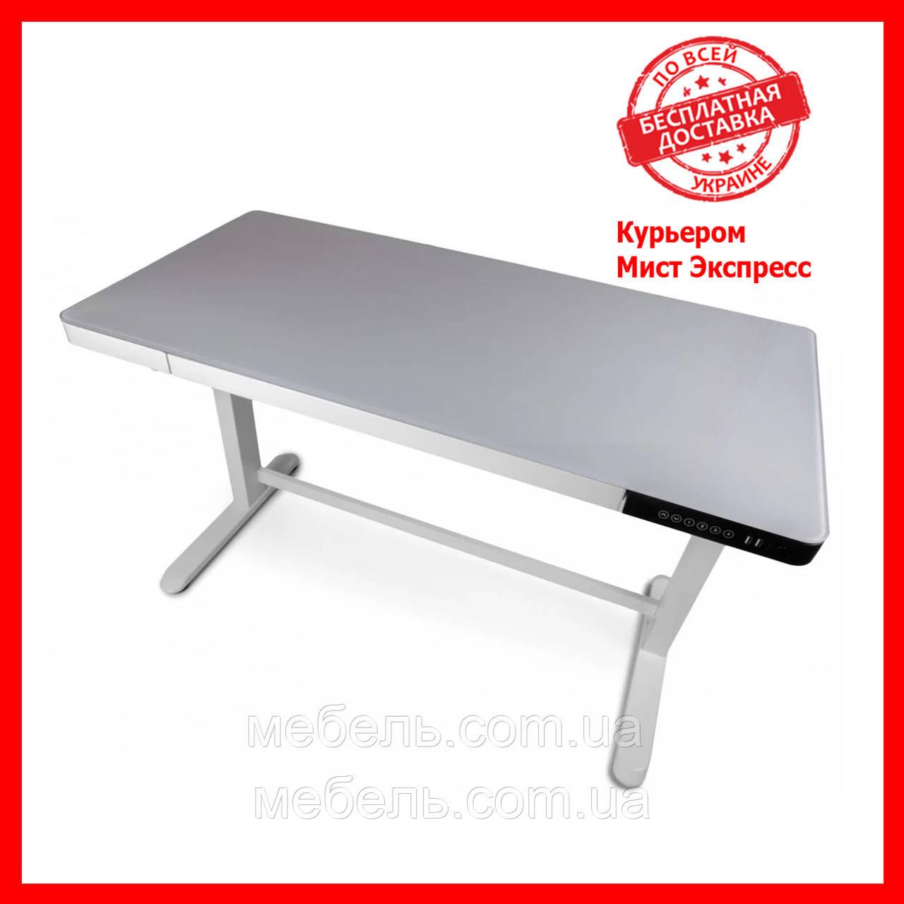 Регулируемый стол Barsky StandUp Memory white electric 2 motors glass 1200*600 BSU_el-06