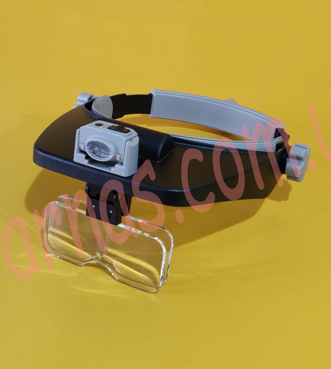 Бинокуляр очки бинокулярные со светодиодной подсветкой MG81001(RD)