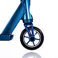 Трюковый самокат с пегами для прыжков Crosser Titan 4.7 Самокат для трюков 110 mm синий, фото 5