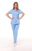 Медицинский костюм Манила небесный