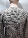 Стильный шерстяной мужской свитер с v-образным вырезом Турция Бежевый, фото 3