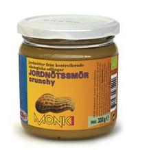 Арахісова Паста кранч органічна, Monki, 330г