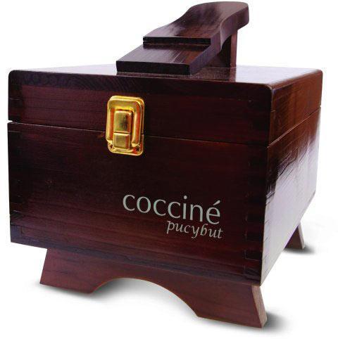 Деревянный футляр для обувной косметики с подставкой для ноги Coccine