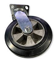 Большегрузное колесо 200 мм. алюминий / резина поворотный кронштейн