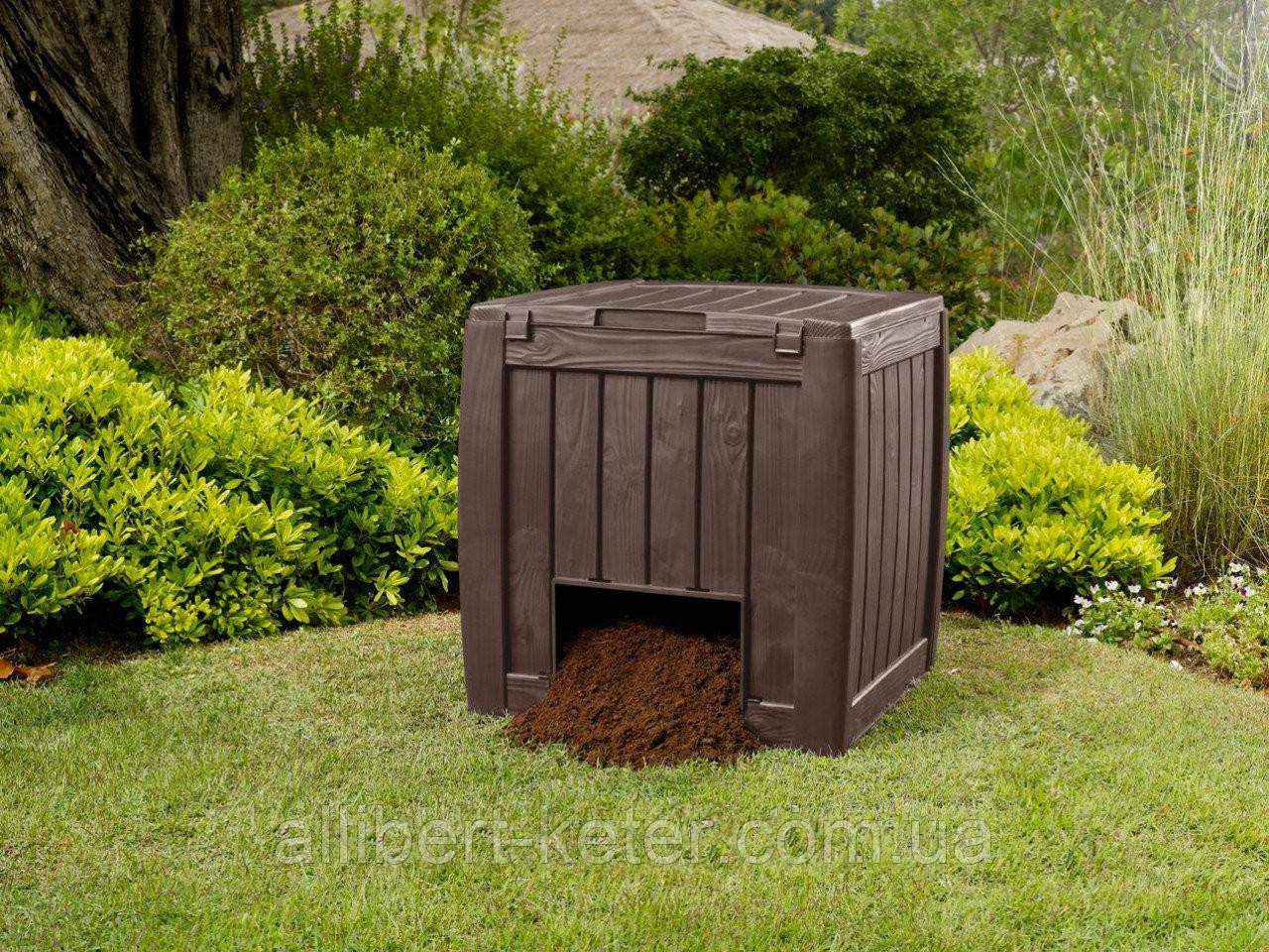 Компостер Keter Deco Composter with Base 340 L ( компостер садовый )