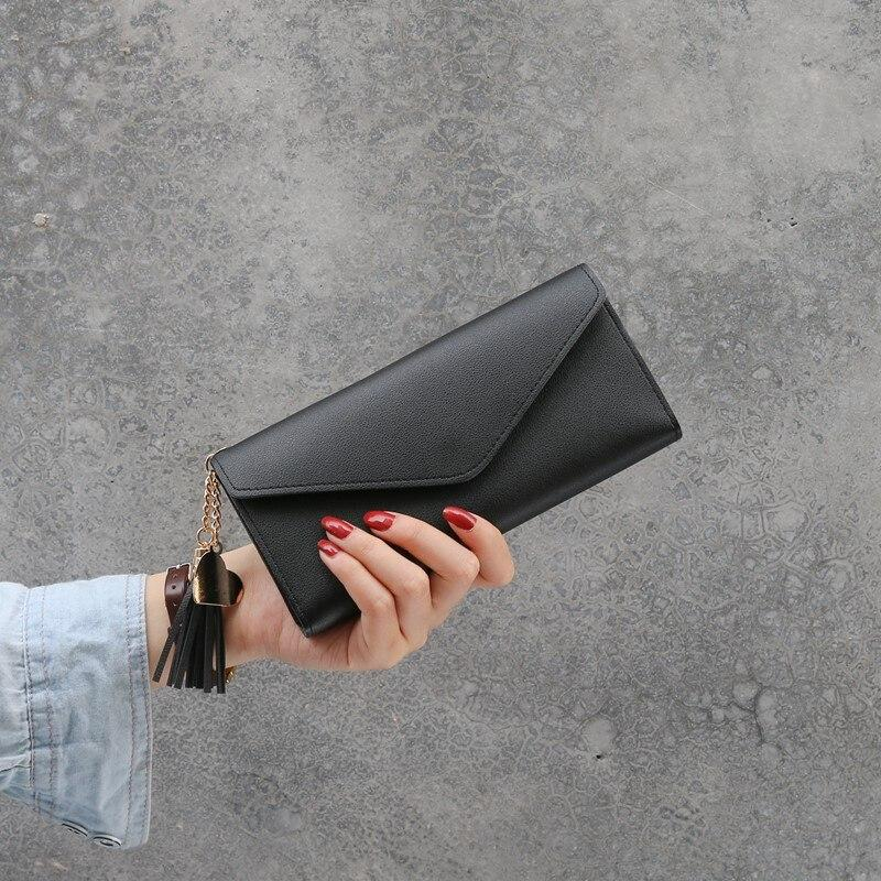 Женский кошелек клатч чергого цвета, жіночий гаманець