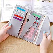 Женский кошелек клатч чергого цвета, жіночий гаманець, фото 5