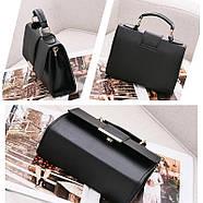Женская сумка через плечо черного цвета, женская сумочка клатч, фото 3