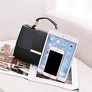Женская сумка через плечо черного цвета, женская сумочка клатч, фото 4