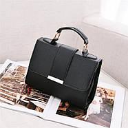 Женская сумка через плечо черного цвета, женская сумочка клатч, фото 5
