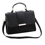 Женская сумка через плечо черного цвета, женская сумочка клатч, фото 8
