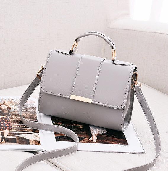 Женская сумка через плечо серого цвета, женская сумочка клатч