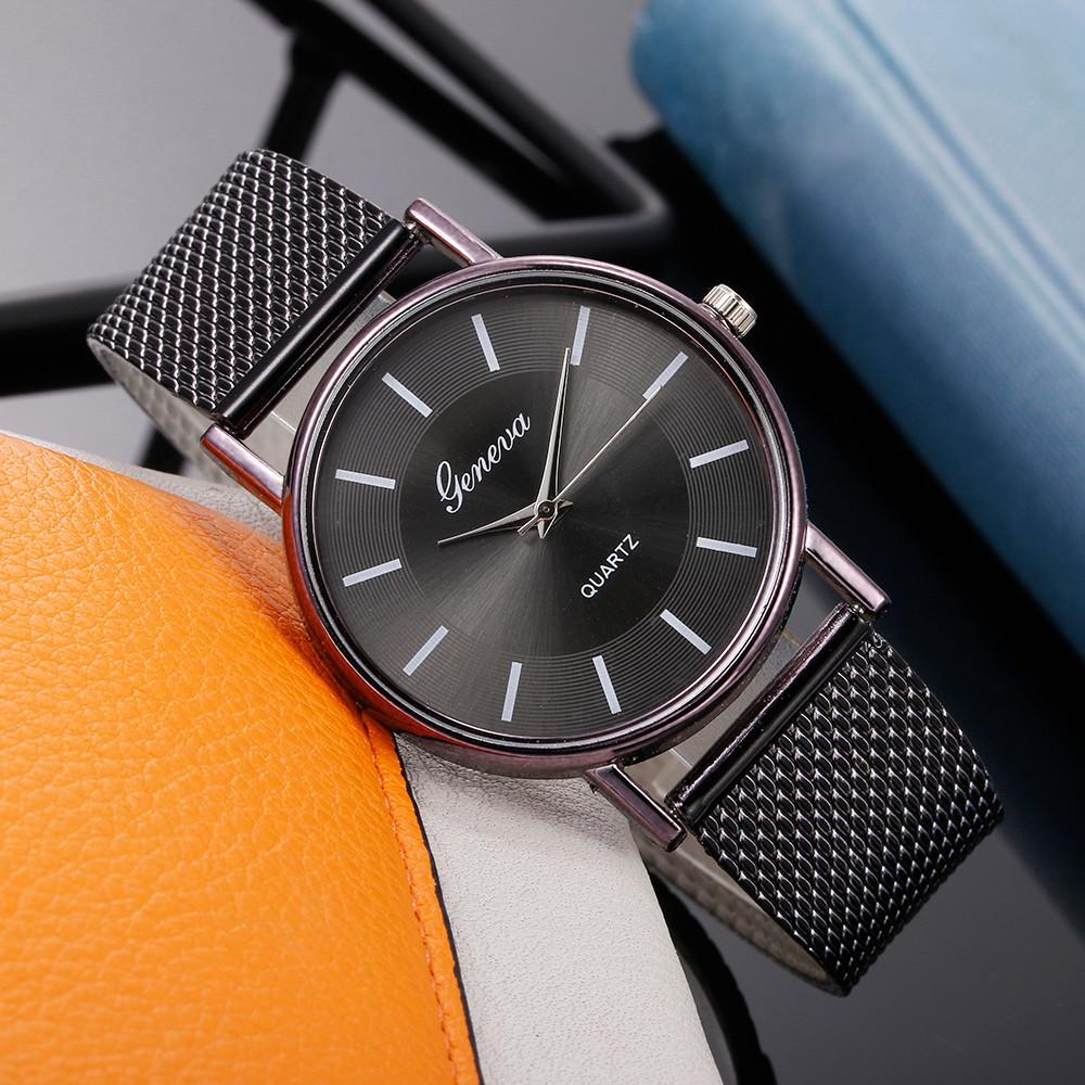 Женские наручные часы Geneva quartz черного цвета