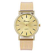 Женские наручные часы Geneva quartz золотого цвета, фото 2