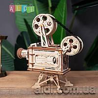 Robotime 3D пазл деревянный конструктор видеокамера рабочий проектор. 3д Оригинал!