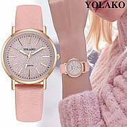 Женские наручные часы Yaloko розовые, фото 3
