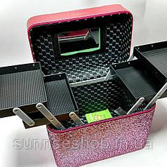 Шкатулка скринька з розсувними полицями для косметички і прикрас
