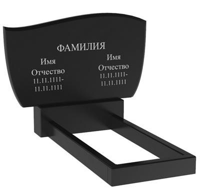 Подвійний пам'ятник з граніту (100-60-5) Д-51