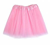Розовая детская фатиновая юбка, фото 1