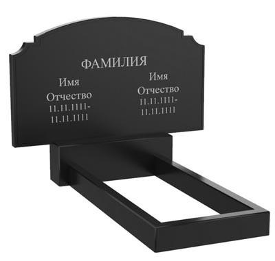 Подвійний пам'ятник з граніту (100-60-5) Д-58