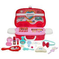 Набор Салон красоты детский в чемодане Детский столик красоты для девочки в кейсе Набор парикмахера Игрушка