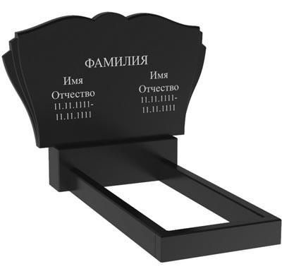 Подвійний пам'ятник з граніту (100-60-8) Д-64