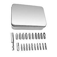 Экстракторы для поврежденных саморезов винтов болтов + магнитный держатель набор, 20 шт
