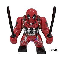Большие фигурки Дедпул + диск-подставка Супергерой Марвел 7-9 см конструктор аналог Лего, фото 1