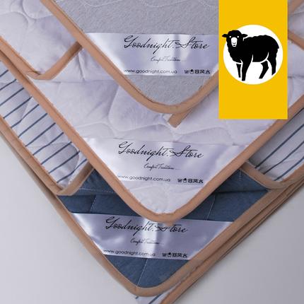 Одеяло с шерсти Мериноса сверхлегкое Ultra Lite Goodnight.Store 100х140 см (цвет белый), фото 2