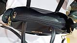 Брендовая женская сумка Michael Kors синяя из кожзама 32*29 см, фото 2