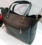 Брендовая женская сумка Michael Kors синяя из кожзама 32*29 см, фото 3